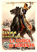 "Movie Posters:Action, The Charge of the Light Brigade (Warner Brothers, 1948). FirstPost-War Release Italian 4 - Fogli (55"" X 78"") Luigi Martinat..."