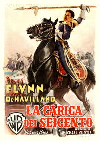 """The Charge of the Light Brigade (Warner Brothers, 1948). First Post-War Release Italian 4 - Fogli (55"""" X 78"""")..."""