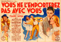 """Movie Posters:Academy Award Winners, You Can't Take It with You (Columbia, 1938). Horizontal FrenchDouble Grande (92"""" X 63"""") David Olère Artwork.. ..."""
