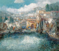 Fine Art - Painting, European, Willi Bauer (German, b. 1923). Harbor Scene. Oil on canvas.27 x 31 inches (68.6 x 78.7 cm). Signed lower right: W.Ba...