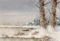 Paintings, Willi Bauer (German, b. 1923). Pond in White. Oil on canvas. 27 x 39 inches (68.6 x 99.1 cm). Signed lower right: W. B...