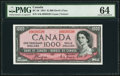 Canadian Currency, BC-36 $1,000 1954 Devil's Face.. ...