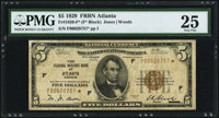 Fr. 1850-F* $5 1929 Federal Reserve Bank Note. PMG Very Fine 25