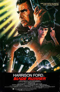 """Blade Runner (Warner Brothers, 1982). Autographed One Sheet (27"""" X 41"""") with COA, John Alvin Artwork"""