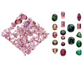 Estate Jewelry:Unmounted Gemstones, Unmounted Tourmaline . ... (Total: 141 Items)