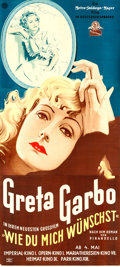 """Movie Posters:Drama, As You Desire Me (MGM, 1934). Full-Bleed Austrian Three Sheet (49.5"""" X 110"""").. ..."""
