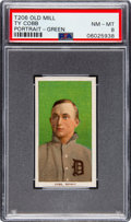 Baseball Cards:Singles (Pre-1930), 1909-11 T206 Old Mill Ty Cobb (Green Portrait) PSA NM-MT 8 - Pop Eight, None Higher. ...