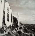 Photographs, Dan Winters (American, b. 1962). Sign on a Hill, Hollywood, California, 1991. Toned and hand colored gelatin silver, 200...