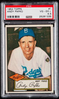 Baseball Cards:Singles (1950-1959), 1952 Topps Andy Pafko (Red Back) #1 PSA VG-EX+ 4.5....