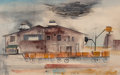 Works on Paper, William Dole (American, 1917-1983). From the S.P. Station, 1949. Watercolor on paper. 11 x 17-3/8 inches (27.9 x 44.1 cm...