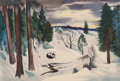 Works on Paper, Charles Surendorf (American, 1906-1979). Sonora Pass, 1954. Watercolor on paper. 15 x 21-1/2 inches (38.1 x 54.6 cm) (sh...