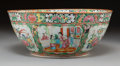 Asian:Chinese, A Chinese Export Porcelain Famille Rose Punch Bowl, 19th century.5-3/8 inches high x 13 inches diameter (13.7 x 33.0 cm). ...