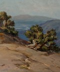 Paintings, William Franklin Jackson (American, 1850-1936). Sierra Trees. Oil on canvas laid on board. 10-1/2 x 8-3/4 inches (26.7 x...