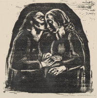 Käthe Kollwitz (German, 1867-1945) Maria and Elisabeth, 1928 Lithograph on paper 15-1/4 x 15 inch