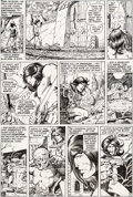 Original Comic Art:Panel Pages, Barry Smith, Tom Sutton, and Tom Palmer Conan the Barbarian#8 Story Page 5 Original Art (Marvel, 1971)....