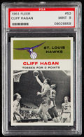 Basketball Cards:Singles (Pre-1970), 1961 Fleer Cliff Hagan (In Action) #53 PSA Mint 9....