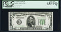 Small Size:Federal Reserve Notes, Fr. 1958-E $5 1934B Federal Reserve Note. PCGS Choice New 63PPQ.. ...