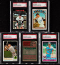 Autographs:Sports Cards, Signed 1971-76 Topps Danny Thompson SGC Authentic Collection(5)....