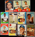 Baseball Cards:Lots, 1953-66 Bowman/Topps Stars & HoFers Collection (11)....