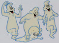Animation Art:Production Drawing, The New Casper Cartoon Show Casper and Ghostly TrioProduction Cel Setup and Animation Drawing Group(Harveytoons/Para...