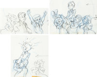 The Little Rascals Layout Drawings Group of 3 (Hanna-Barbera, 1982).... (Total: 3 Original Art)