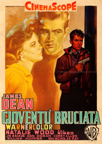 "Rebel without a Cause (Warner Brothers, 1956). Italian 2 - Fogli (38.25"" X 54"") Luigi Martinati Artwork"