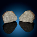 Meteorites:Irons, Muonionalusta Meteorite End Cut Pair. Iron, IVA. Northern Sweden - (67° 48'N, 23° 6'E). Found: 1906. ... (Total: 2 Items)