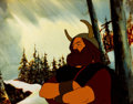 Animation Art:Production Cel, Lord of the Rings Boromir Production Cel Setup with KeyMaster Painted Background (Ralph Bakshi, 1978)....