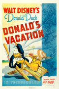 "Movie Posters:Animation, Donald's Vacation (RKO, 1940). One Sheet (27"" X 41"").. ..."
