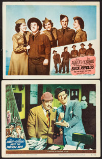 "Abbott and Costello Meet the Invisible Man & Other Lot (Universal International, 1951). Lobby Cards (2) (11"" X..."