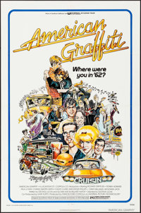 "American Graffiti (Universal, 1973). One Sheet (27"" X 41""), Mini Lobby Cards (4) and Photos (4) (8"" X 10&..."
