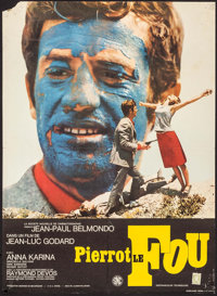 """Pierrot le fou (SNC, 1965). French Affiche (23.75"""" X 31.25""""). Foreign"""