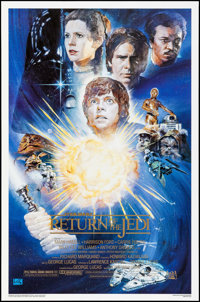 "Return of the Jedi (Kilian Enterprises, R-1994) Rolled, Near Mint-. 10th Anniversary One Sheet (27"" X 41"") SS..."