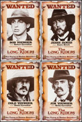 "Movie Posters:Western, The Long Riders (United Artists, 1980). Rolled, Very Fine+. Set of 8 Mini Posters (12"" X 18""). Western.. ..."