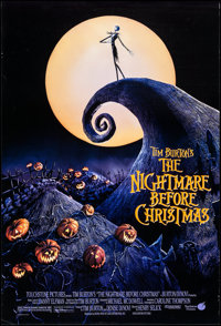"The Nightmare Before Christmas (Touchstone, 1993). One Sheet (27"" X 40"") DS. Animation"