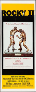 "Movie Posters:Sports, Rocky II (United Artists, 1979). Insert (14"" X 36"") BronzeSculpture Style. Sports.. ..."