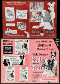 "Lady and the Tramp (Buena Vista, 1955/R-1971). Uncut Pressbooks (2) (Multiple Pages, 11"" X 15"" & 12""..."