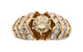 Estate Jewelry:Rings, Fancy Yellow-Brown Diamond, Diamond, Gold Ring...