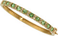 Estate Jewelry:Bracelets, Tsavorite Garnet, Diamond, Gold Bracelet. ...