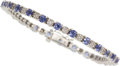 Estate Jewelry:Bracelets, Tanzanite, Diamond, White Gold Bracelet. ...