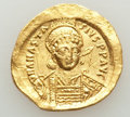 Ancients:Byzantine, Ancients: Anastasius I (AD 491-518). AV solidus (4.35 gm). XF,graffito. ...
