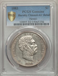 Coins of Hawaii , 1883 $1 Hawaii Dollar -- Harshly Cleaned -- PCGS Genuine Secure. AU Details. NGC Census: (38/208 and 0/3+). PCGS Population...