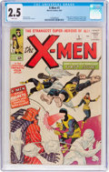 Silver Age (1956-1969):Superhero, X-Men #1 (Marvel, 1963) CGC GD+ 2.5 White pages....