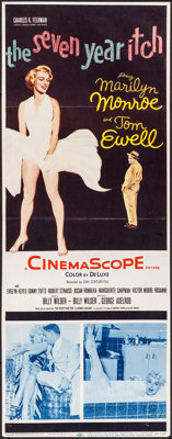 "The Seven Year Itch (20th Century Fox, 1955). Trimmed Insert (13.5"" X 35.5""). Comedy"