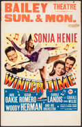"""Movie Posters:Musical, Wintertime (20th Century Fox, 1943). Window Card (14"""" X 22"""").Musical.. ..."""