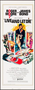 "Movie Posters:James Bond, Live and Let Die (United Artists, 1973). International Insert (14"" X 36""). Robert McGinnis Artwork. James Bond.. ..."