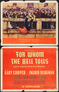 "Movie Posters:War, For Whom the Bell Tolls (Paramount, 1943). Title Lobby Card &Lobby Card (11"" X 14""). War.. ... (Total: 2 Items)"