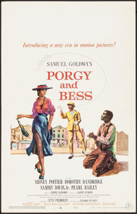 "Porgy and Bess (Columbia, 1959). Window Card (14"" X 22""). Musical"