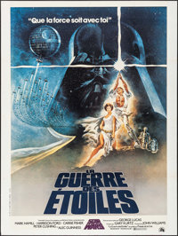 "Star Wars (20th Century Fox, 1977). French Grande (47"" X 63"") Tom Jung Artwork. Science Fiction"