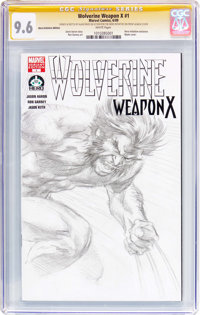 Wolverine Weapon X #1 Hero Initiative Edition - Signature Series (Marvel, 2009) CGC NM+ 9.6 White pages